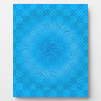 abstract blue mesh checkered plaque
