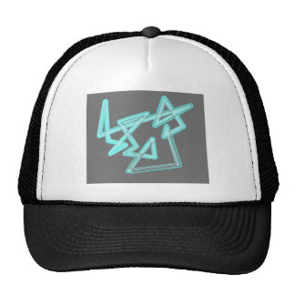 abstract-blue mesh hat