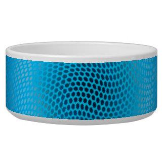 abstract blue mesh pet bowls