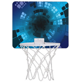 Abstract Blue Mini Basketball Hoop