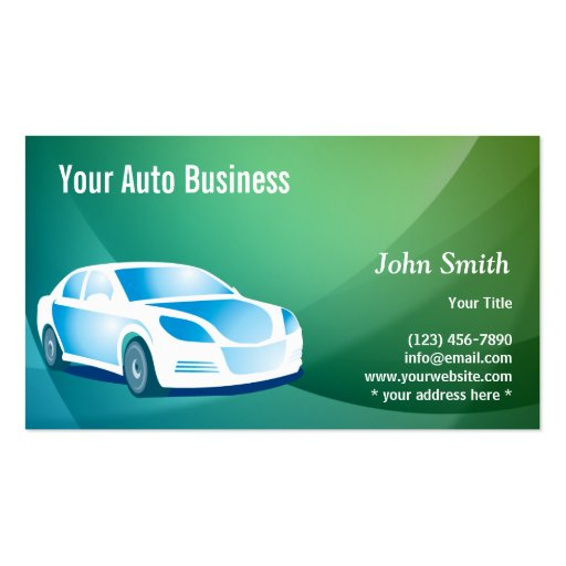 Abstract blue mobile auto detailing business card zazzle for Mobile auto detailing business cards