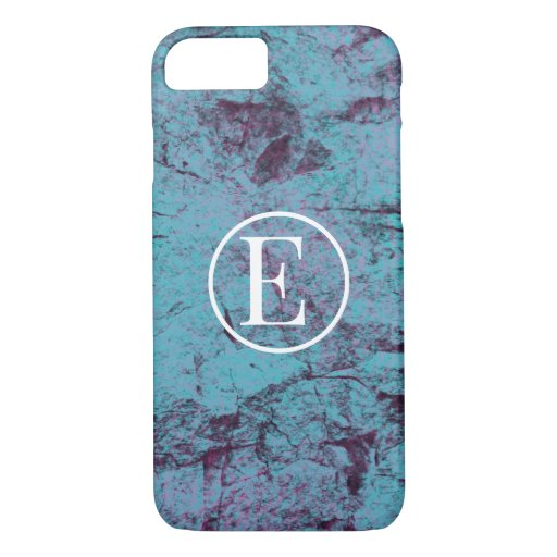 Abstract Blue Monogram iPhone Case