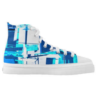 abstract blue mosaic (big) High-Top sneakers