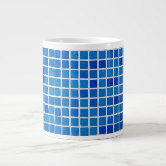 Abstract Blue Mosaic Extra Large Mug