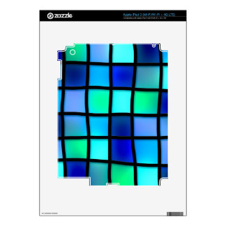 Abstract Blue Mosaic Tile Decals For iPad 3