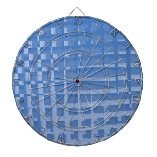 Abstract Blue Mosaic Tiles Muted Blues Pattern Dartboards