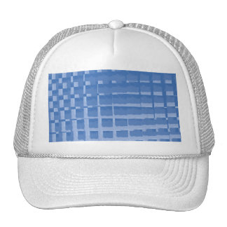 Abstract Blue Mosaic Tiles Muted Blues Pattern Trucker Hat