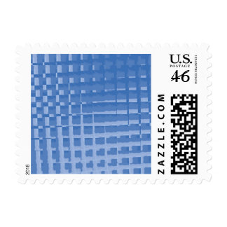 Abstract Blue Mosaic Tiles Muted Blues Pattern Postage Stamp