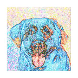 Abstract Blue Orange Labrador Retriever Canvas Print
