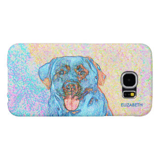 Abstract Blue Orange Labrador Retriever Samsung Galaxy S6 Case