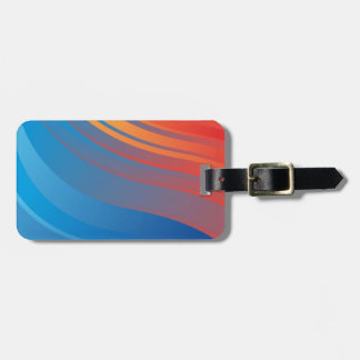Abstract Blue Orange Wave Background Travel Bag Tags