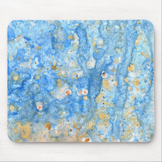 Abstract blue painting mouse pad