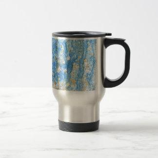 Abstract blue painting travel mug