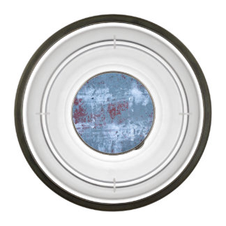 Abstract Blue Painting Pet Bowl