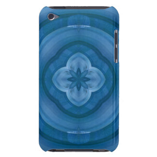 Abstract blue pattern with wood flower barely there iPod case