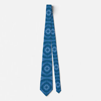 Abstract blue pattern with wood flower tie