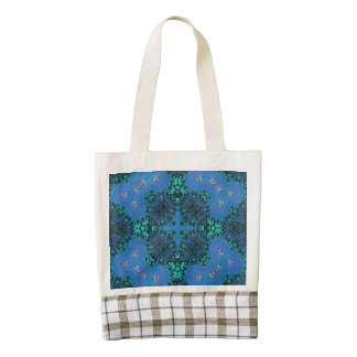 Abstract Blue pattern Zazzle HEART Tote Bag