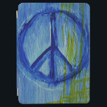 """Abstract blue Peace sign iPad Air Cover<br><div class=""""desc"""">Abstract blue Peace sign cover</div>"""