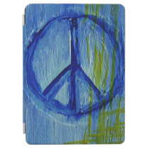 Abstract blue Peace sign iPad Air Cover