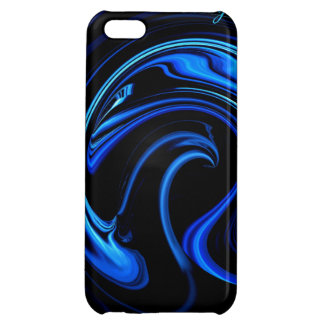Abstract Blue Peacock Art iPhone 5 case