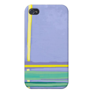 Abstract Blue Picket Fence iPhone 4 Case
