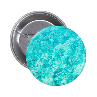 Abstract blue pinback button