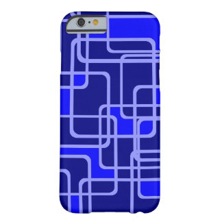 Abstract Blue Pipeline Pattern Barely There iPhone 6 Case