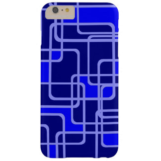 Abstract Blue Pipeline Pattern Barely There iPhone 6 Plus Case