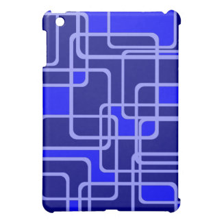 Abstract Blue Pipeline Pattern Ipad Case