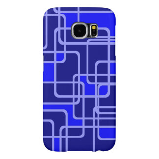 Abstract Blue Pipeline Pattern Samsung Galaxy S6 Cases