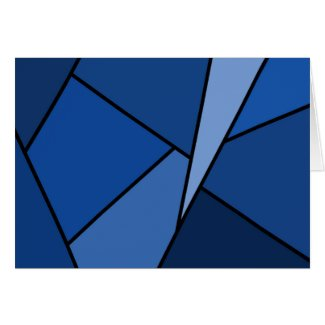 Abstract Blue Polygons Card
