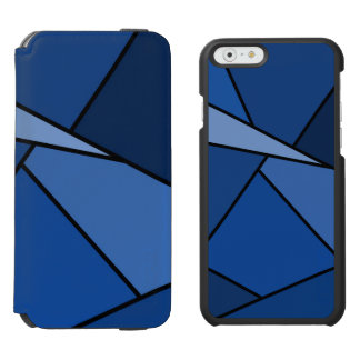 Abstract Blue Polygons iPhone 6/6s Wallet Case