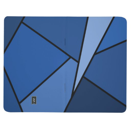 Abstract Blue Polygons Journal