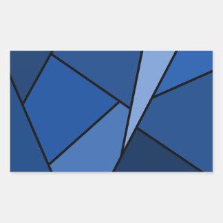 Abstract Blue Polygons Rectangular Sticker