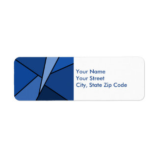 Abstract Blue Polygons return address label