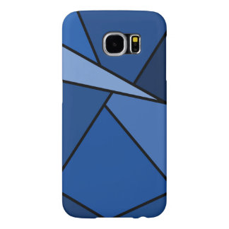 Abstract Blue Polygons Samsung Galaxy S6 Case
