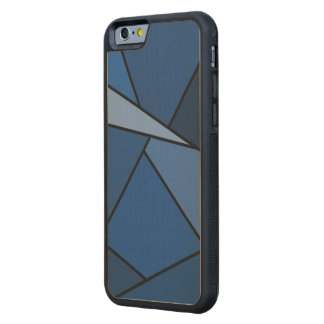 Abstract Blue Polygons Carved® Maple iPhone 6 Bumper