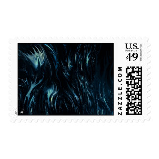 abstract blue postage stamp
