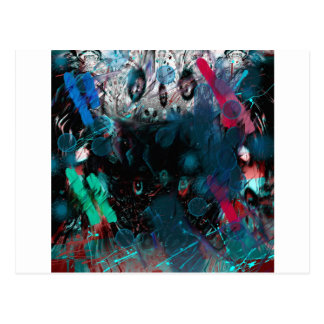 abstract blue postcard