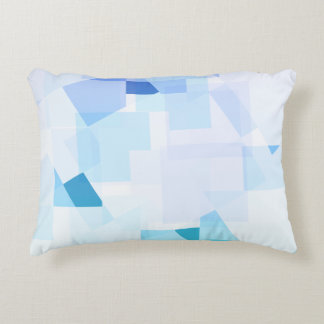 Abstract Blue Purple Geometric Modern Design Accent Pillow