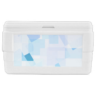 Abstract Blue Purple Geometric Modern Design Chest Cooler