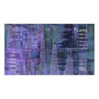 Abstract Blue, Purple, Green Business Card