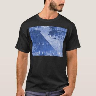 Abstract Blue Rain Drops Design T-Shirt