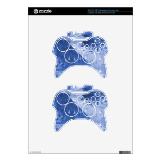 Abstract Blue Rain Drops Design Xbox 360 Controller Skin