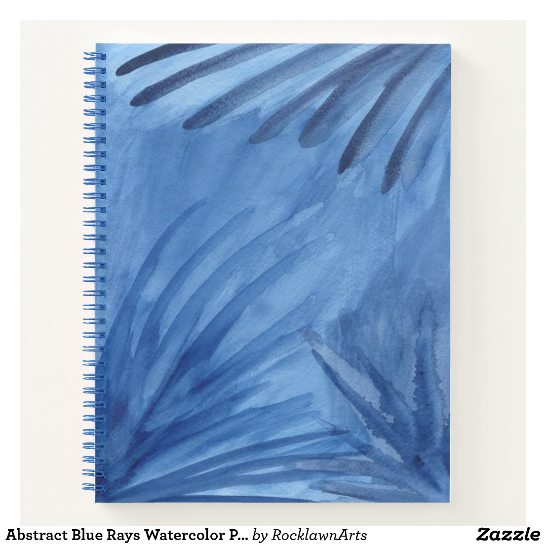 Abstract Blue Rays Watercolor Painting Sketch Note Notebook
