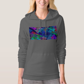 Abstract Blue Red And Green Fractal Art Hoodie