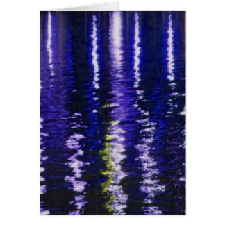Abstract Blue Reflections Card