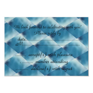 abstract blue - reply / rsvp card