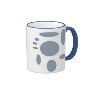 abstract blue ringer mug