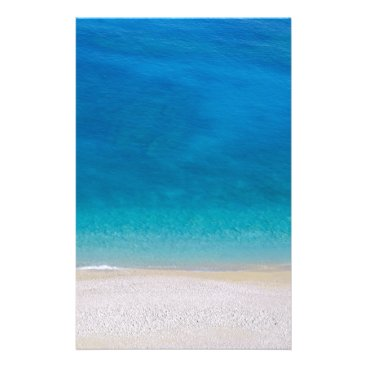 Abstract blue sea beach stationery